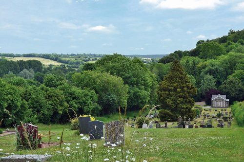 Photo of the View of Chesham Bois original Formal Burial Ground from the top of the hill.
