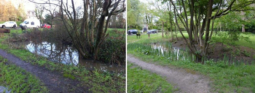 clearance work on Bricky Pond Cheshamm Bois