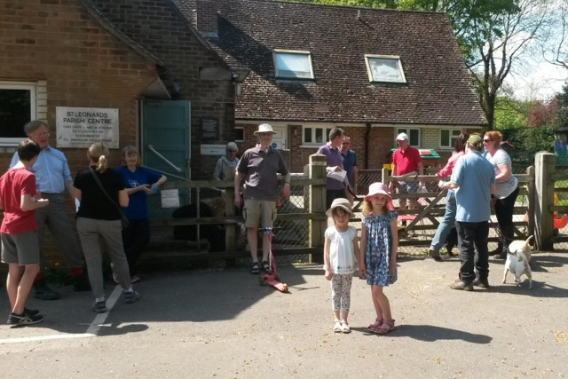 Start of Chesham Bois Beating the Bounds May 2016