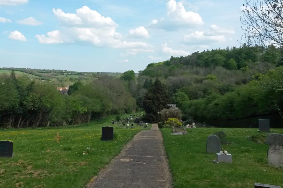 Burial Grounds, Chesham Bois Beating the Bounds Walk May 2016