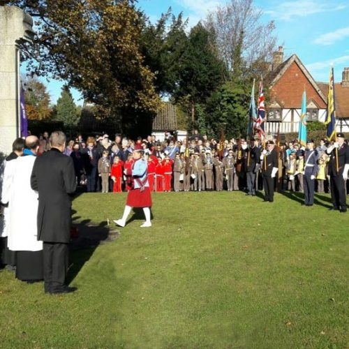 remembrance day parade, chesham bois