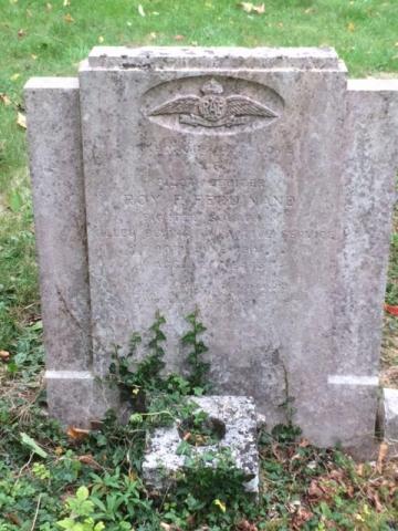 Chesham Bois Burial Ground - memorial to Flying Officer Roy Frederick