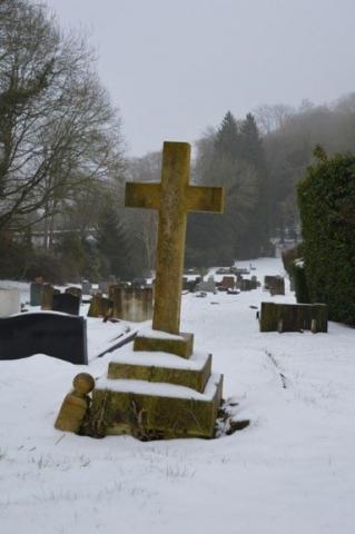 Chesham Bois Burial Ground - March 2018 snow scene