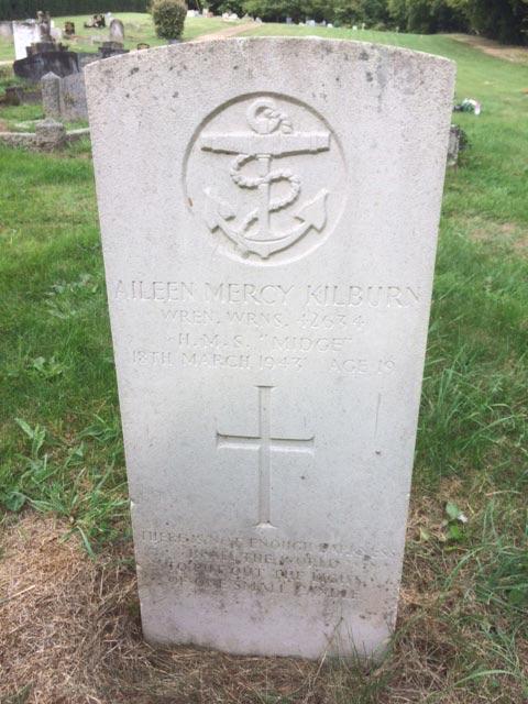 photo of memorial to Wren Aileen Mercy Kilburn.