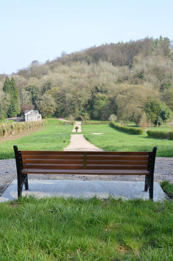 Bench in Chesham Bois Burial Ground