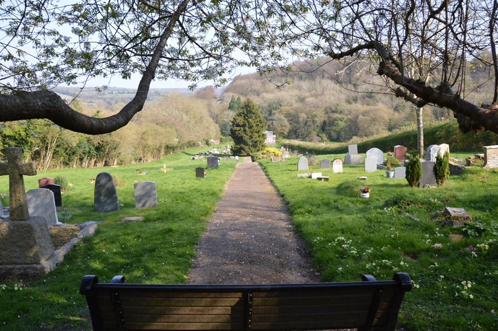 View from Bench in Chesham Bois Burial Ground