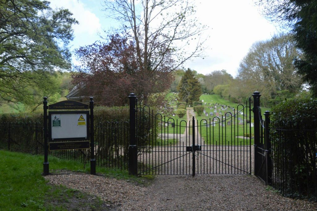 Entrance to Chesham Bois Burial Ground