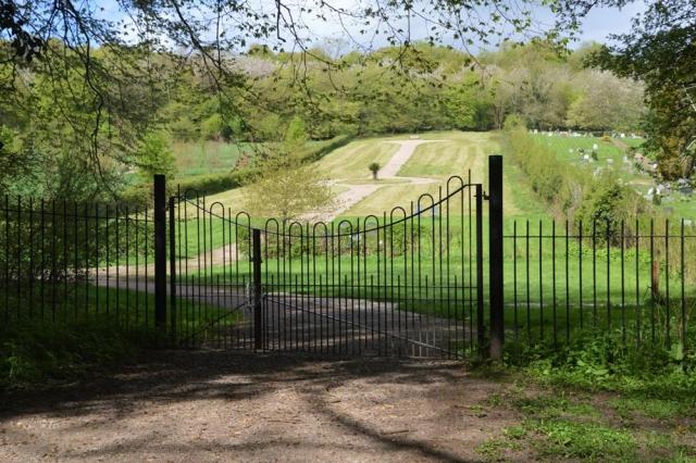 Gates to Chesham Bois Burial Ground