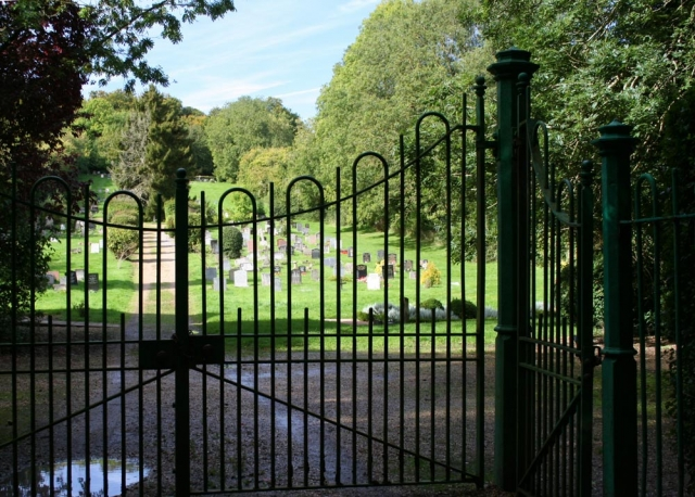 Gates to Chesham Bois Burial Ground