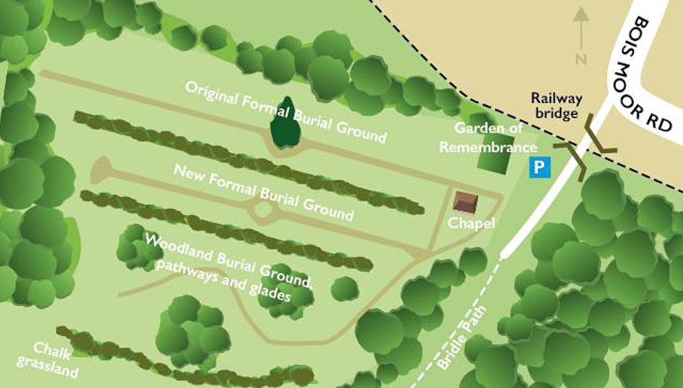 map of chesham bois burial ground