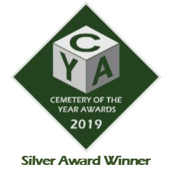 Logo for the Silver award winner Cemetery of the year 2019.