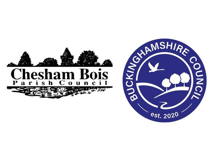 Logos of Chesham Bois Parish Council and Buckinghamshire Council